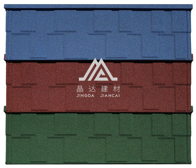 彩石金属瓦-平板型(方格瓦)