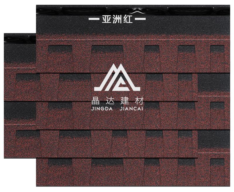 标准双层亚洲红沥青瓦铺装效果