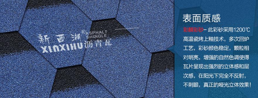 马赛克宝石蓝沥青瓦细节02